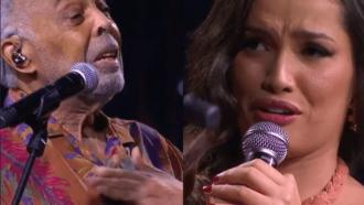 Juliette Freire e Gilberto Gil se emocionam em dueto: 'Essa é nossa alma dançando forró'