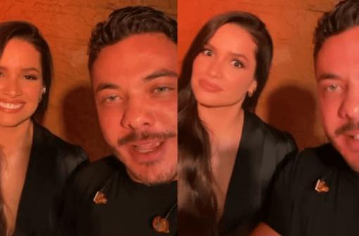 Preparada! Prontíssima para soltar a voz, ex-BBB Juliette surge com Wesley Safadão em ensaio de live: