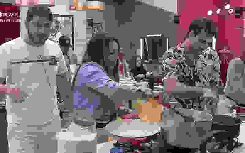 Márcia e Yugnir começam a preparar o almoço - Power Couple Brasil 5